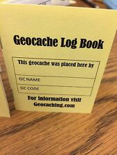 Geocache Log Book, Lot Of 4, great for gift bags