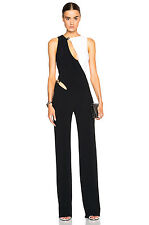 MUGLER TWO TONE CUTOUT STRETCH-CREPE JUMPSUIT FR 36 UK 8