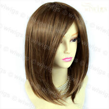 Faceframe Dark Brown mix Blonde Medium Wig Bob Style Ladies Wigs UK