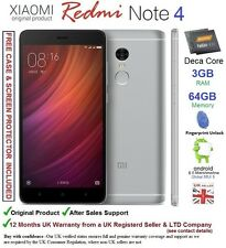 "Xiaomi Redmi Note 4 Prime 64GB Android 6 Dual SIM Smartphone 5.5"" Deca Core UK"