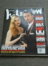 MAGAZINE ANDY WARHOL'S INTERVIEW - EDWARD NORTON - EVAN RACHEL WOOD - MAY 2006