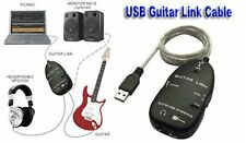 Guitar Link Cable USB Interface Cable adapter for PC/MAC Recording