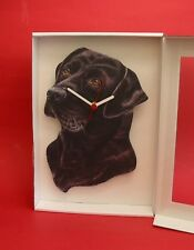 Black Labdador Dog Wooden Wall Clock Pet Vet Gun Dog Mother Christmas Gift NEW