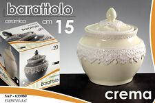 BARATTOLO BISCOTTIERA IN CERAMICA CREMA DECORATA 15 CM SAP-633980