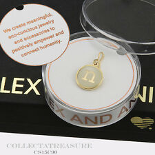 Authentic Alex and Ani Initial N 14kt Gold Plated Etching Charm
