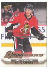 15/16 Upper Deck Series 1 Canvas Young Guns Matt Puempel #C106 Senators SP