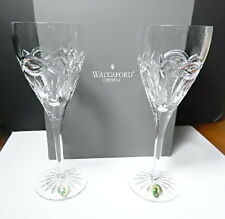 Waterford Crystal DOLMEN Claret Wine Glasses, Pair, New in Box