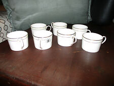 7 WEDGWOOD VERA WANG CHAMPAGNE DUCHESSE CUPS COFFEE TEACUP  NEW NON-BLEM
