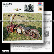 #006.07 EXCELSIOR 100 WELBIKE WW2 PARATROOPER Scooter Fiche Moto Motorcycle Card