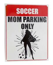 """Soccer Mom Parking Only 9"""" x 12"""" Tin Parking Sign with Supermom with Cape"""