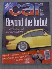 Car (June 1995) Porsche 911 GT2, Diablo, Range Rover, Discovery, Alfa 145, Civic