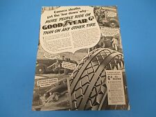 1936 Print Ad, Good Year G-3 All-Weather Tires, More People Ride On, PA014