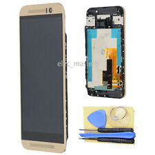 Gold LCD Display &Touch Screen Digitizer W/ Frame Assembly For HTC One M9 Part