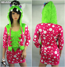 Halloween Sexy Girl Furry Melody Monster Cosplay  Carnivl Party Stage Costume