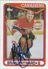 BRIAN HAYWARD Autographed Signed 1990-91 Topps card Montreal Canadiens
