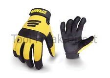 DeWalt Heavy Duty Work Gloves Black Yellow size Large with Gel Palms , dpg21l