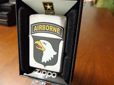 UNITED STATES US ARMY 101ST AIRBORNE DIVISION ZIPPO LIGHTER MINT 2016