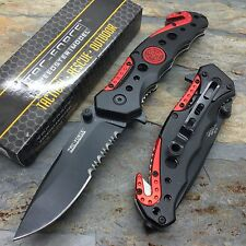 Tac Force Emergency Rescue Fire Fighter  Handy Pocket Outdoor Tactical Knife
