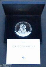 2008 COOK ISLANDS THE QUEEN ELIZABETH I SILVER PROOF 5oz COIN BOXED/COA