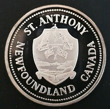 1985 NFLD ST.ANTHONY DOLLAR -ULTRA LOW MINTAGE OF 35, PURE SILVER VARIETY-D4007