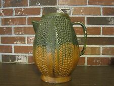 VINTAGE GREEN AND CLAY PINEAPPLE SHAPED TEPACHE JAR / PITCHER--MADE IN MEXICO