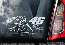 Valentino Rossi #46 - Car Window Sticker-  'The Doctor' Moto GP Yamaha V05 - NEW