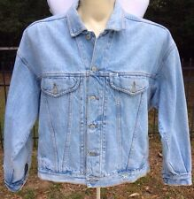 VINTAGE GUESS 1980's Georges Marciano denim jean jacket Men's M Acid Stone Wash