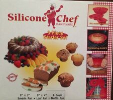 NEW Silicone Chef Bakeware Silicone Chef Bakeware 3-Piece Starter Set