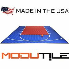 ModuTile 20ft x 24ft Outdoor Basketball Half Court Kit -Lines and Edges Included