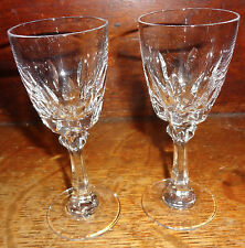 Spiegelau Lot of 2 Crystal Cordial Glasses SP140 Vertical Cut 6 Sided Stem TR5