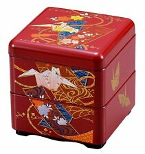 HAKOYA Lunch Bento Box 57216 Mini Nest of Boxes Orizuru Crane Red MADE IN JAPAN