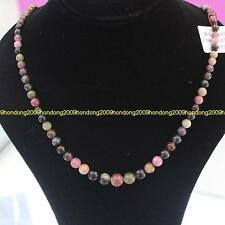 PRECIOUS NATURAL 300CTS 5-10MM TOURMALINE GEMSTONE NECKLACE 17''L