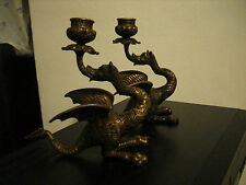 LOVELY  SECESSIONIST JUGENDSTIL , ART NOUVEAU ORIGINAL DRAGON CANDLESTICKS