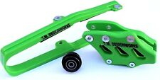 KXF 250 450 KLX CHAIN SLIDE GUIDE KIT KAWASAKI GREEN KCP-K09 TM DESIGNS 2009-15