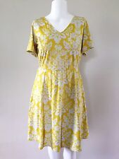 SPRUCE & SAGE Dress 1X NEW stretchy yellow & white floral print plus size