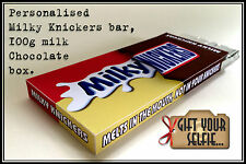 Personalised Milky Knickers bar 100g Chocolate box, Great Gift Idea.
