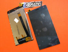 DISPLAY + TOUCH SCREEN +VETRO PER WIKO MOBILE GETAWAY ASSEMBLATO NERO RICAMBIO