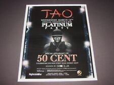 50 Cent Platinum Party Live Rap Music Vegas Event 15x12 Matted Art Poster NEW