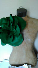 Dark Green Felt Oversized Rose Magnet Pin Brooch