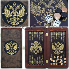"Portable Backgammon Board 12"" Backgammon Set ""Russian Eagle"" НАРДЫ Backgamon"