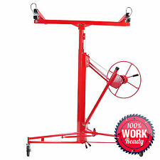 Drywall Lift Jack - Panel Lifter Hanging Hoist - 11' Red