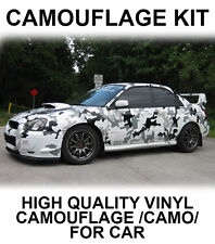 Camouflage Camo Whole Car Stickers JDM Wrap Vinyl for Drift Modified Car VW sti