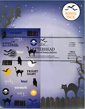 Letterhead Printer Paper Halloween Theme 100 Count Black Cat on Fence Owl Purple
