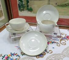 5 PIECE VINTAGE WINFIELD WARE BIRD OF PARADISE 1 CREAMER, 1 CUP AND 3 SAUCERS