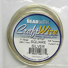 SILVER PLATED COPPER WIRE PIAZZA 21 Gauge 4 Yard
