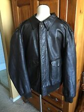 Cooper A-2 Brown Flight US Air Force Bomber Leather Goatskin Jacket Sz 48R XL