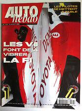 AUTO HEBDO n°1506 du 3/08/2005; Les V 8 et la F1/ Les pilotes se mettent à table