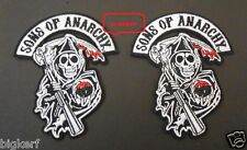 "{2}  GRIM REAPER  ""SONS OF ANARCHY""  BIKER  ROADGEAR  SOA  PATCHES - SEW OR IRON"