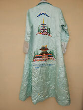 ANTIQUE CHINESE/JAPANESE SILK HAND EMBROIDERED ROBE KIMONO ROBE TEXTILE #10