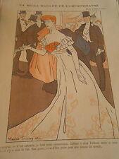 La Belle Madame de l'Amphithéatre Cabinet 6 chez Taillard Print Art Déco 1906